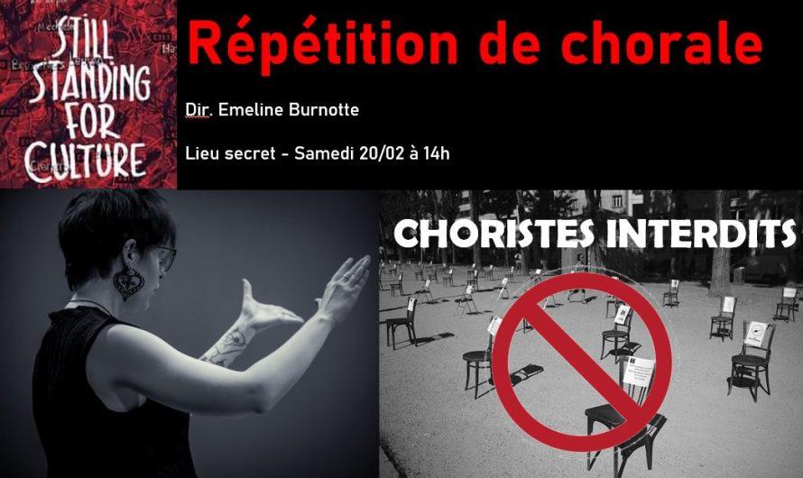 Répétition de chorale sans choriste