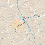 Kaart met wandelroutes