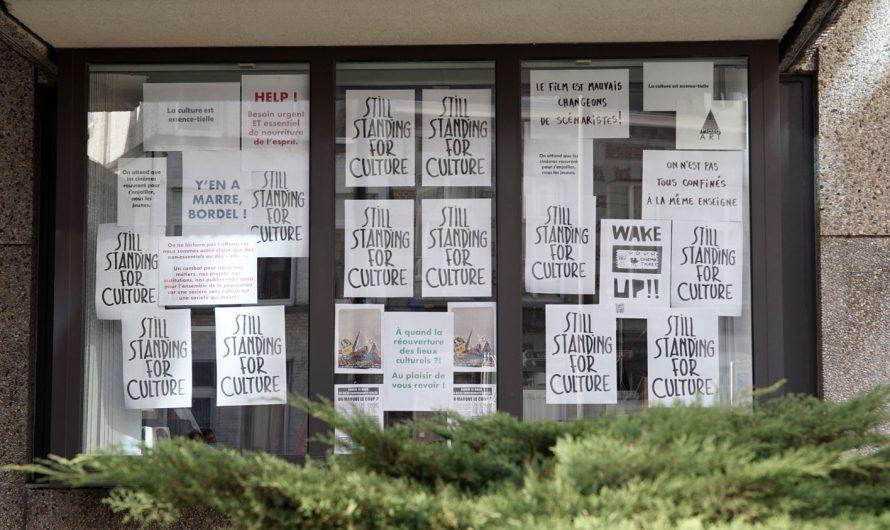 Photos::Files devant les lieux culturels à Mons (13/03/21)