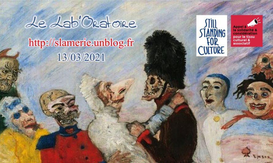 Lab'Oratoire « Still Standing For Culture » 13/03/2021